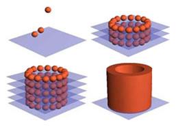 Para formar un tubo se depositan células capa a capa sobre un «papel» de glucosa