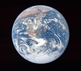 La Tierra vista desde el Apollo 17. Gentileza NASA