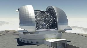 Recreación del futuro telescopio europeo extremadamente grande (Wikipedia)